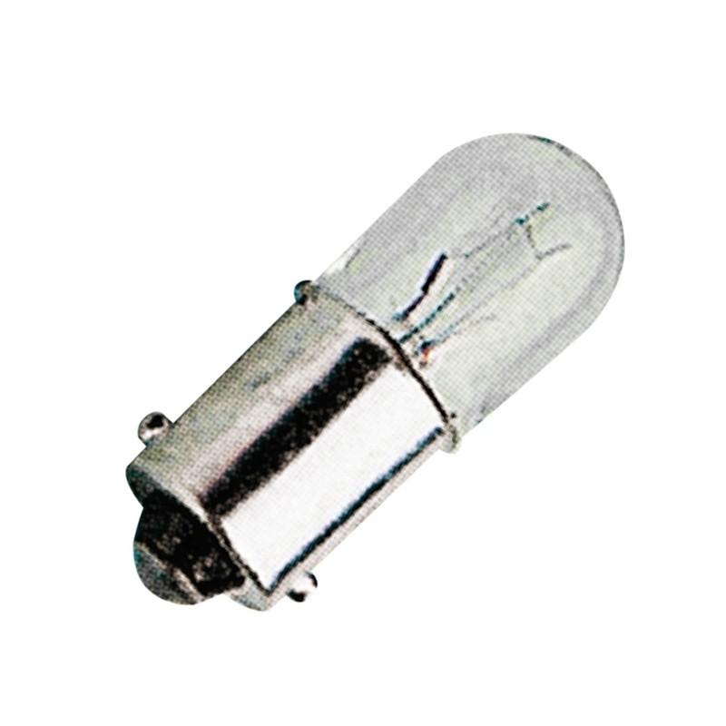 Lampada per segnalazione a filamento, passo BA9s, T10X28 130V 2W,
