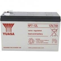 Yuasa NP7-12 L YUANP7-12L Batteria al piombo 12 V 7 Ah Piombo-AGM (L x A x P) 151 x 98 x 65 mm Spina piatta 6,35 mm
