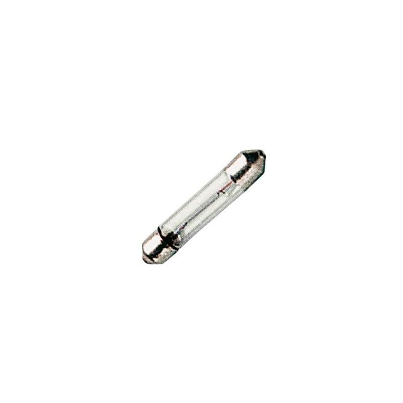 Lampada SV 6-6 siluro in vetro 6 x 38 mm filamento C-6 24 V - 125 mA - 3 Watt, Arteleta AW.18.2