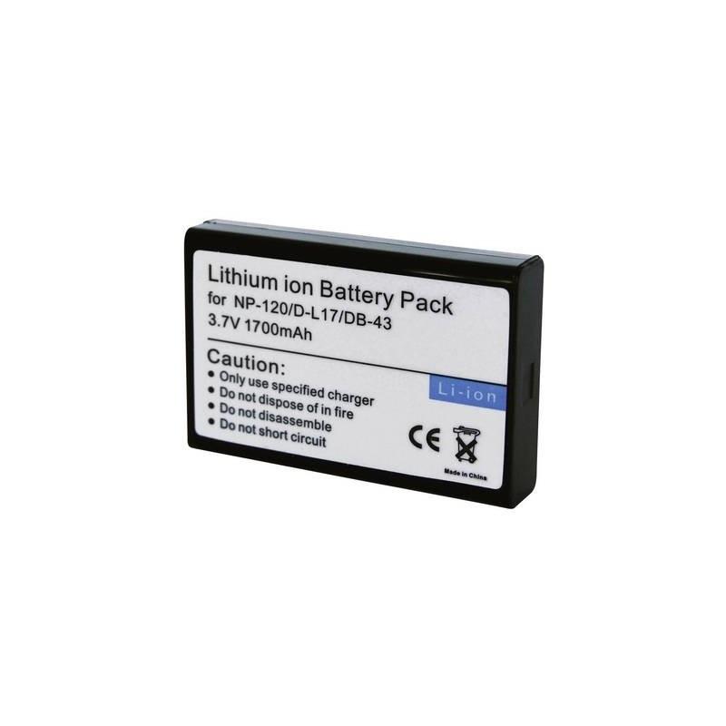 Conrad energy 250676 Batteria ricaricabile fotocamera sostituisce la batteria originale NP-120, D-L17, DB-43 3.7 V 1700
