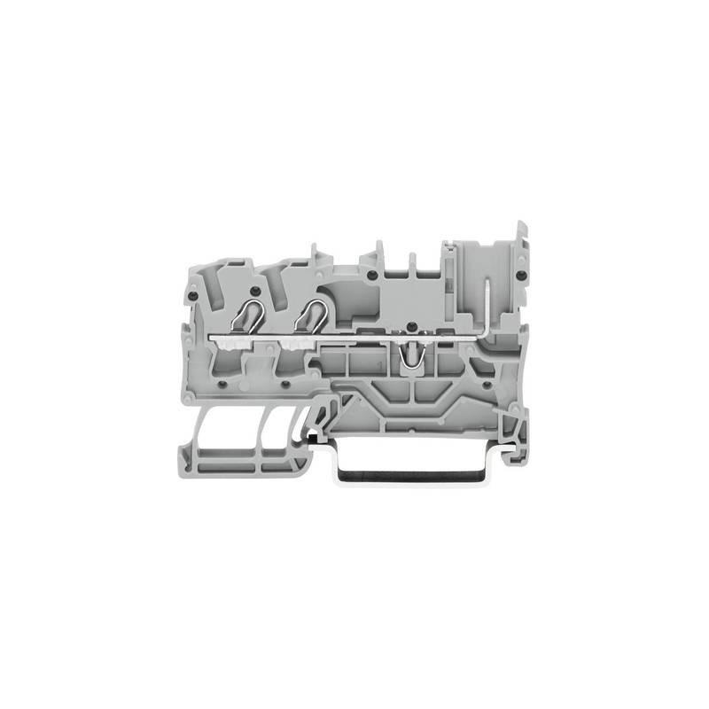 WAGO 2022-1301 Morsetto base 5.20 mm A molla Attribuzione: L Grigio 1 pz.