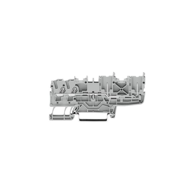 WAGO 2022-1401 Morsetto base 5.20 mm A molla Attribuzione: L Grigio 1 pz.