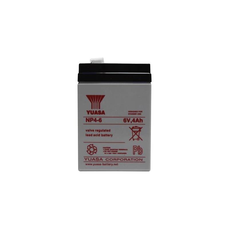 Yuasa NP4-6 NP4-6 Batteria al piombo 6 V 4 Ah Piombo-AGM (L x A x P) 70 x 106 x 47 mm Spina piatta 4,8 mm Esente da
