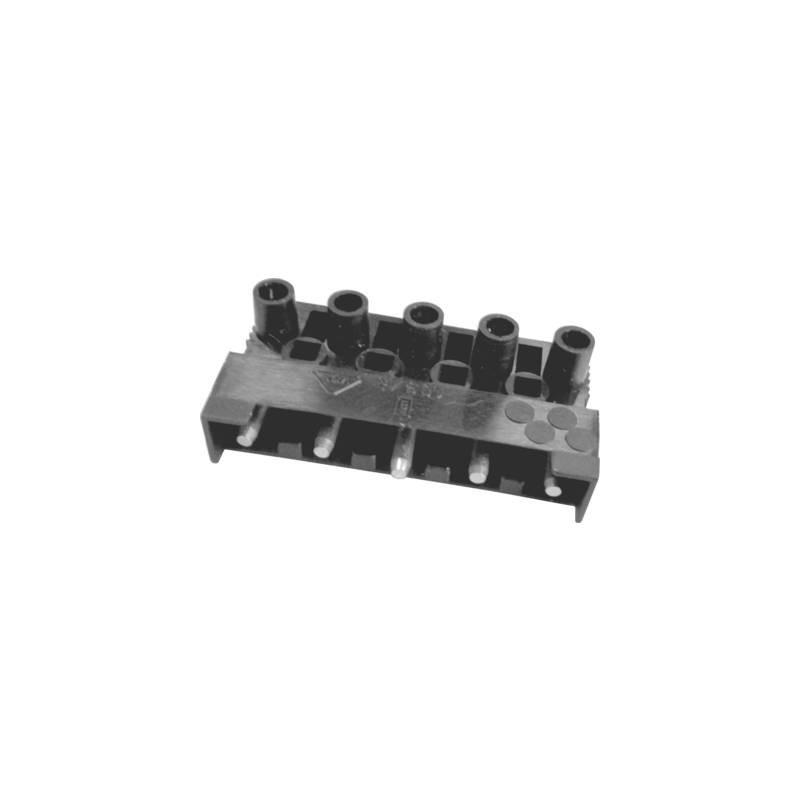 Adels-Contact 151185 V9 Morsetto flessibile: -2.5 mm² rigido: -2.5 mm² Poli: 5 1 pz. Nero