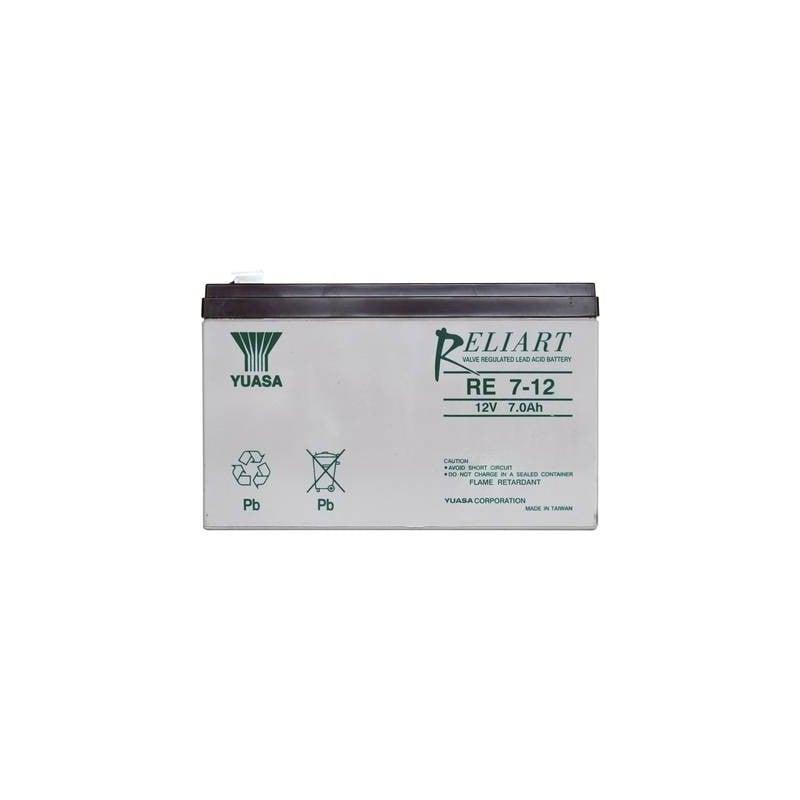 Yuasa RE7-12 RE7-12 Batteria al piombo 12 V 7 Ah Piombo-AGM (L x A x P) 151 x 98 x 65 mm Spina piatta 6,35 mm Esente da