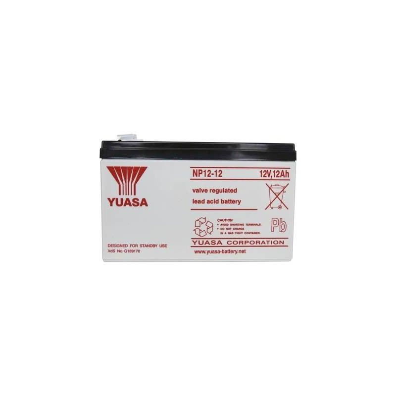 Yuasa NP12-12 NP12-12 Batteria al piombo 12 V 12 Ah Piombo-AGM (L x A x P) 151 x 98 x 98 mm Spina piatta 6,35 mm Esente