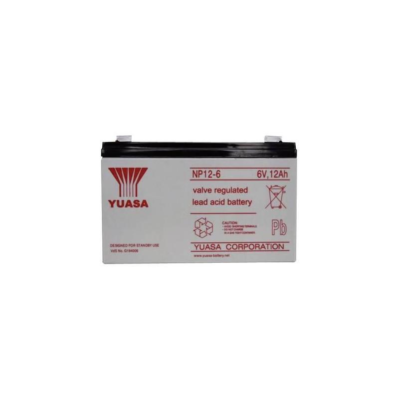 Yuasa NP12-6 NP12-6 Batteria al piombo 6 V 12 Ah Piombo-AGM (L x A x P) 151 x 98 x 50 mm Spina piatta 6,35 mm Esente da