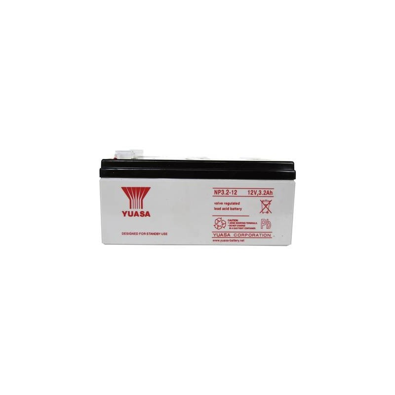 Yuasa NP3.2-12 YUANP3.2/12RP Batteria al piombo 12 V 3.2 Ah Piombo-AGM (L x A x P) 134 x 64 x 67 mm Spina piatta 4,8 mm