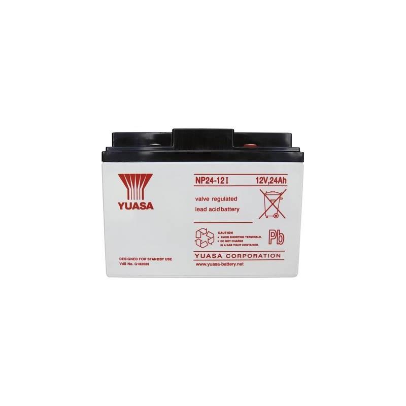 Yuasa NP24-12 NP24-12 Batteria al piombo 12 V 24 Ah Piombo-AGM (L x A x P) 166 x 125 x 175 mm Vite M5 Esente da