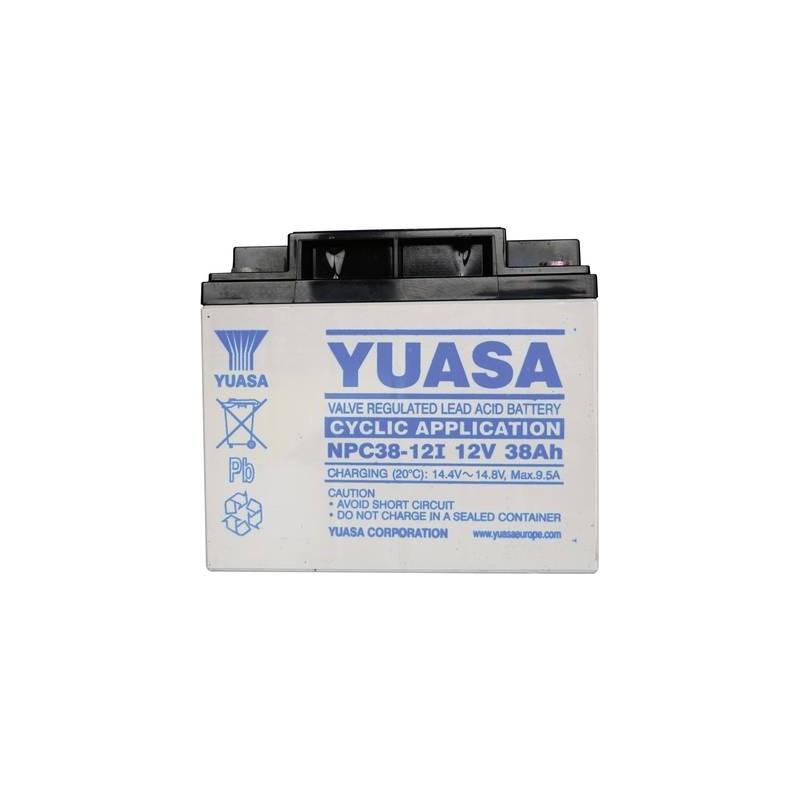 Yuasa NPC38-12 NPC38-12 Batteria al piombo 12 V 38 Ah Piombo-AGM (L x A x P) 197 x 170 x 165 mm Vite M5 Esente da