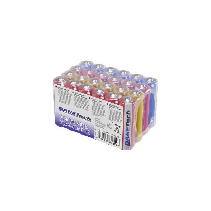 Basetech Batteria Stilo (AA) Alcalina/manganese 2650 mAh 1.5 V 24 pz.