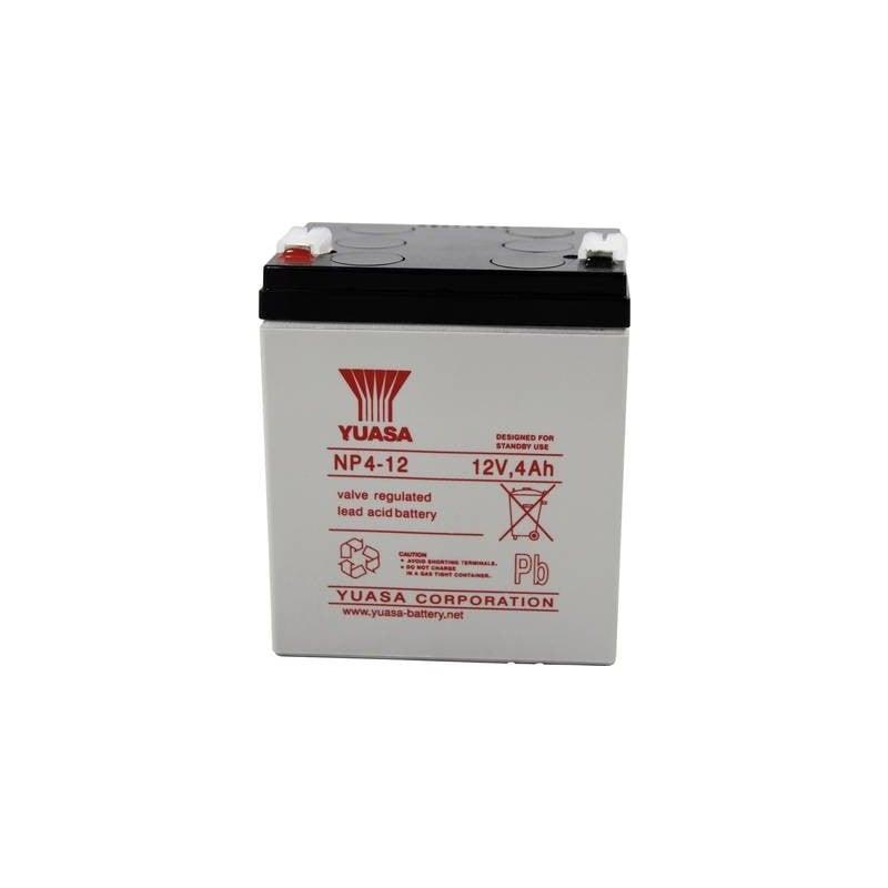 Yuasa NP4-12 NP4-12 Batteria al piombo 12 V 4 Ah Piombo-AGM (L x A x P) 90 x 106 x 70 mm Spina piatta 4,8 mm Esente da