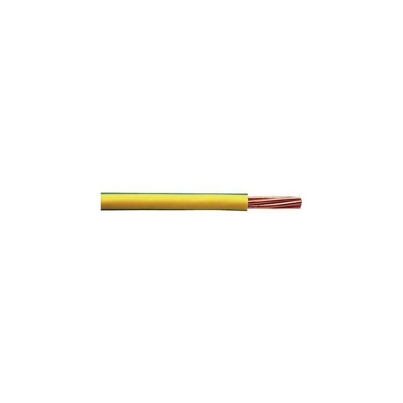Faber Kabel 040084 Cavo per cablaggi H07V-R 1 x 25 mm² Verde-Giallo Merce a metro
