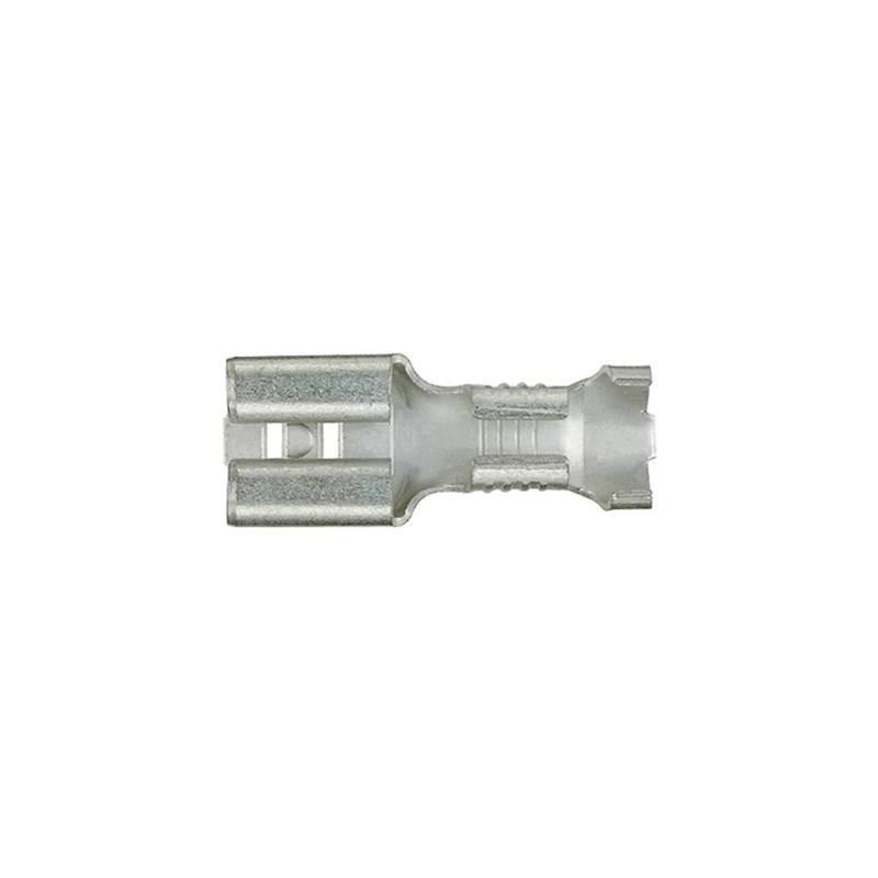 Klauke 1750 Presa piatta Larghezza spina: 6.3 mm Spessore spina: 0.8 mm 180 ° Non isolato Metallo 1 pz.