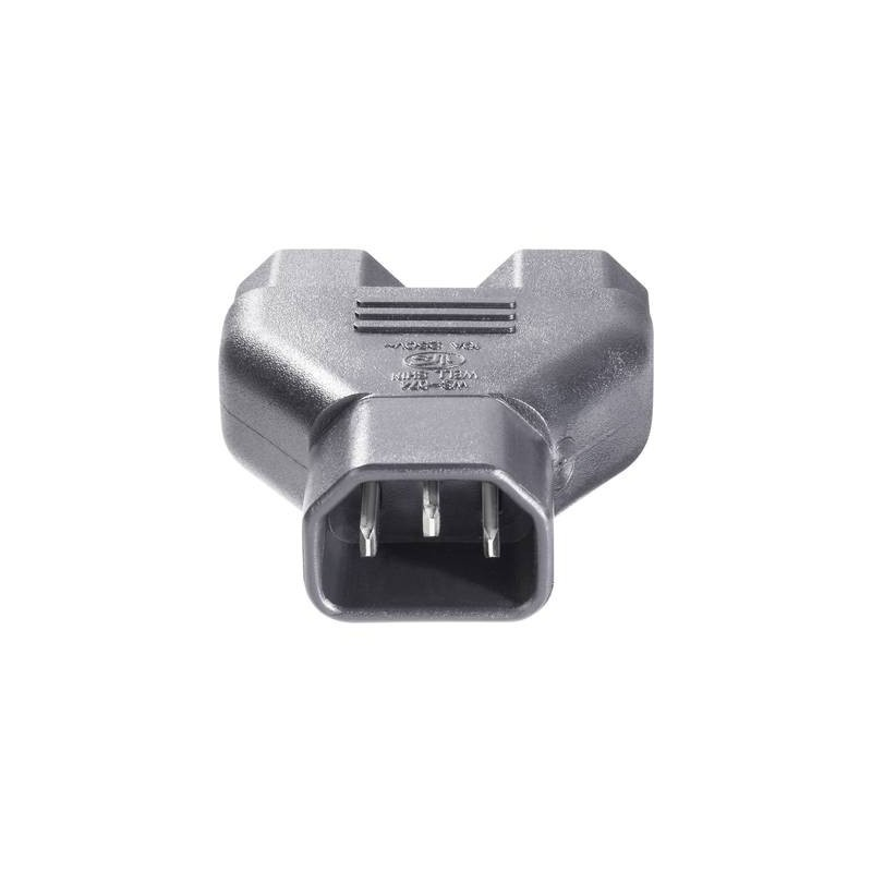 BKL Electronic 073331 Adattatore IEC Spina IEC C14 - Presa IEC C13, Presa IEC C13 Nero 1 pz.