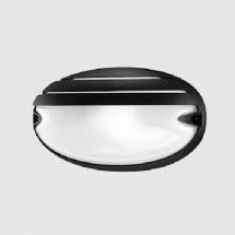 Plafoniera Prisma 005707 E27 21W Chip Ovale 25/Grill Nera
