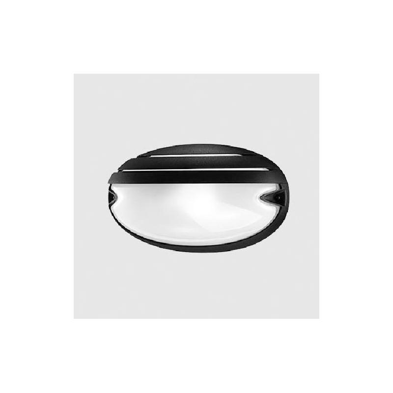 Plafoniera Nera Led Prisma 005707, forma Ovale, Chip 25 grill, Nera, Potenza 21 watt.