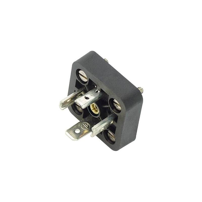 Connettore per elettrovalvole, struttura A serie 210 Nero 43-1715-000-04 Poli:4+PE Binder Contenuto: 1 pz.