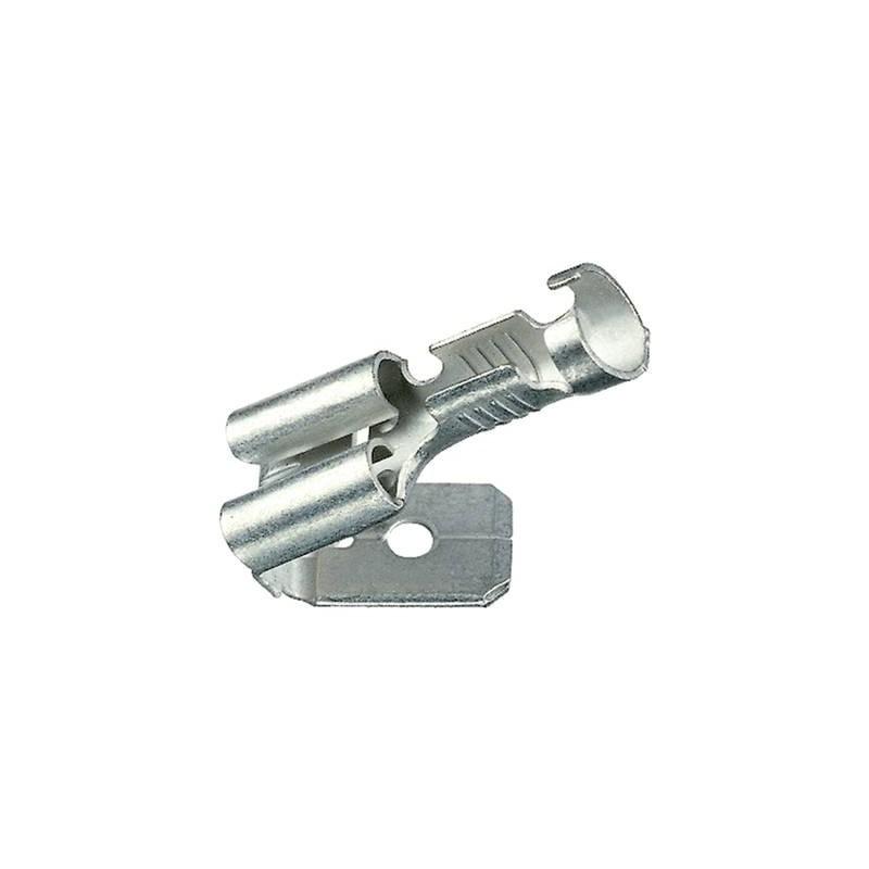 Klauke 1730AZ Presa piatta con linguetta angolata Larghezza spina: 6.3 mm Spessore spina: 0.8 mm 180 ° Non isolato