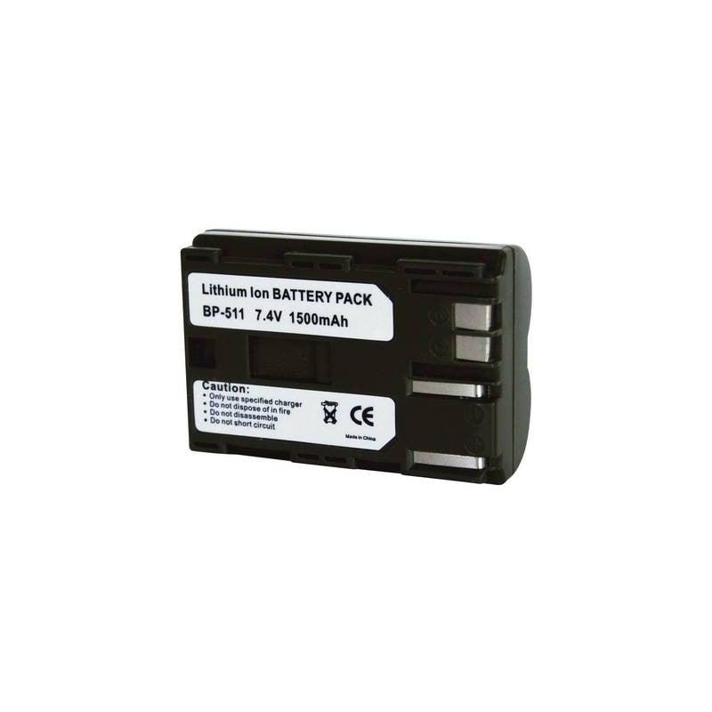 Conrad energy 250509 Batteria ricaricabile fotocamera sostituisce la batteria originale BP-511, BP-512, BP-514 7.4 V
