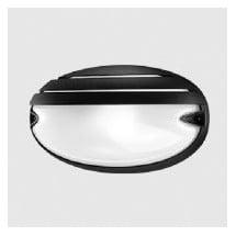 Plafoniera Nera 30W E27 Chip Ovale 30 Grill Prisma 005787
