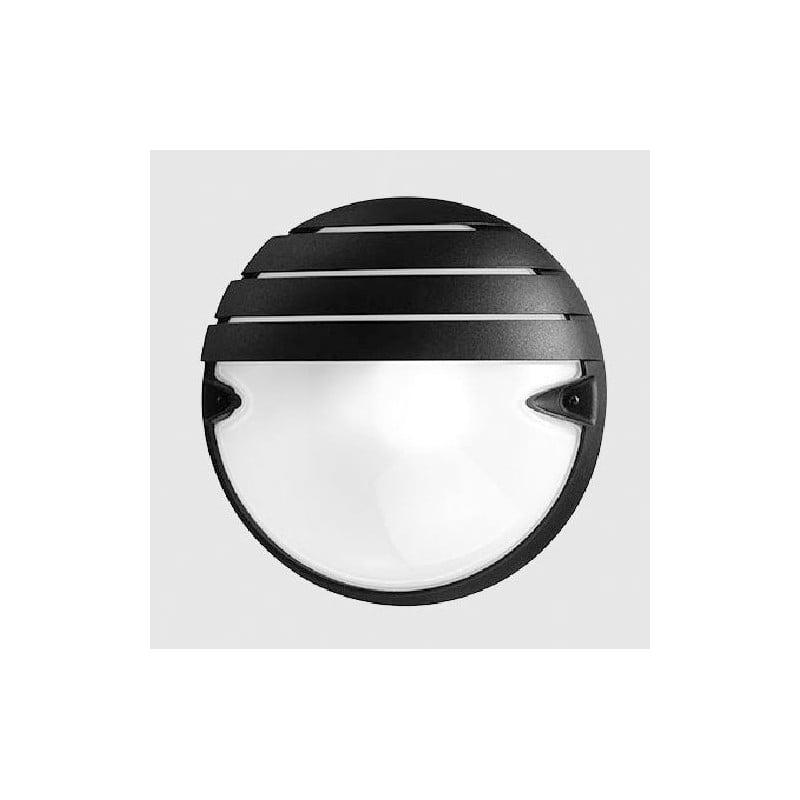 Plafoniera tonda linea Prisma, colore nero, base E 27, consumo 21 Watt, miglior prezzo online.