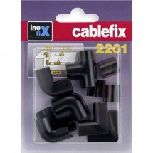 cablefix 3210_schwarz Canalina passacavi Collegamento canaline 10 pz. Nero