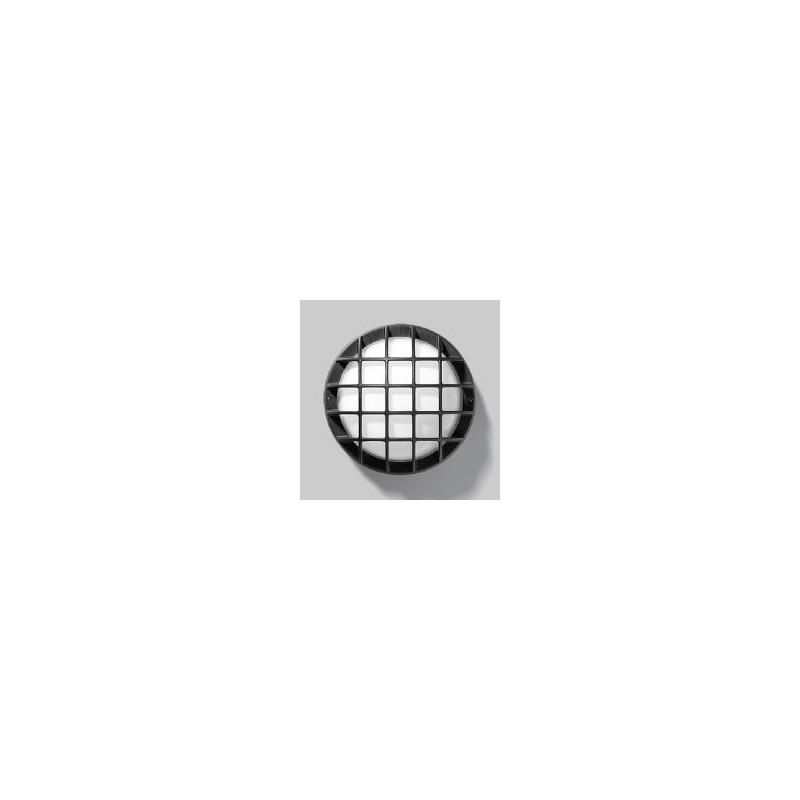 Plafoniere per esterni e interni, colore nero, basso consumo 15W, collegamento E27, da parete e soffitto.