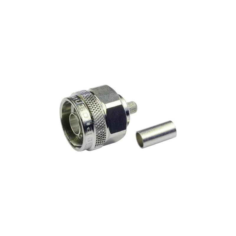 Connettore N Spina dritta 50 Ω Telegärtner J01020A0113 1 pz.