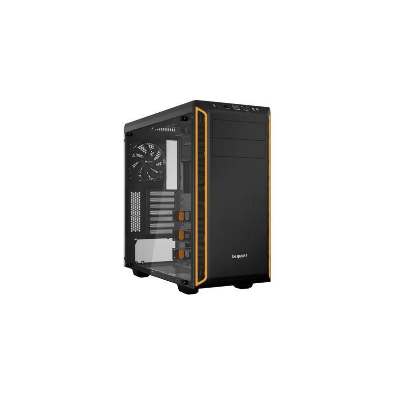Midi-Tower PC Case BeQuiet Pure Base 600 Nero/Arancio isolato, finestra laterale, 2 ventole pre-montate