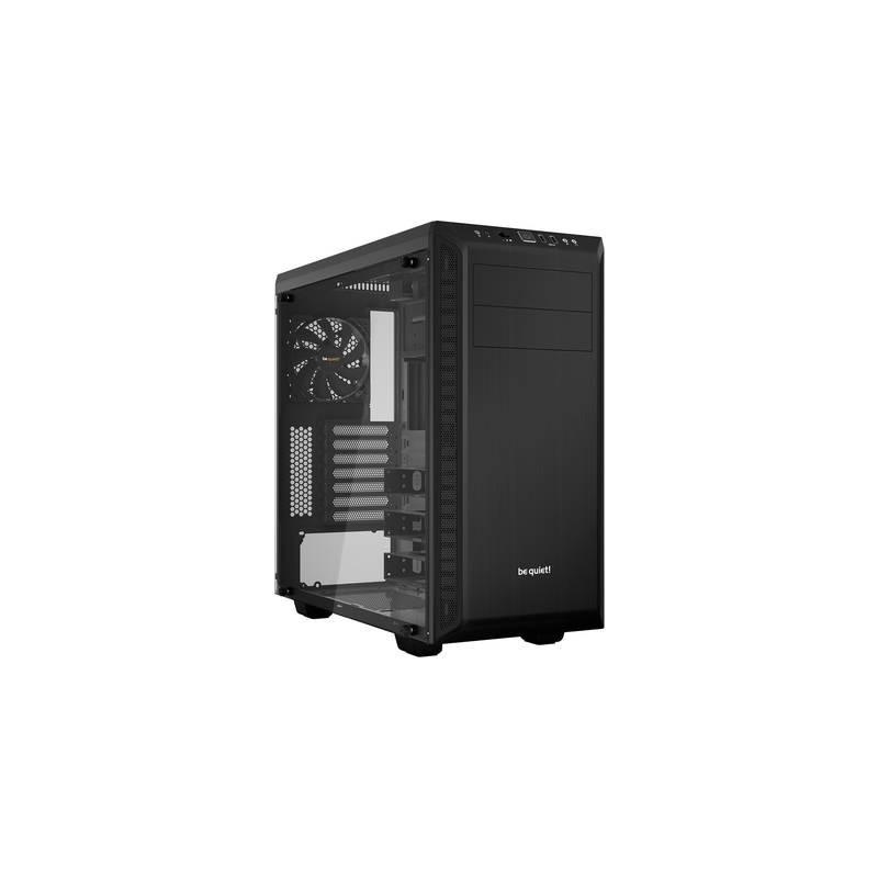 Midi-Tower PC Case BeQuiet Pure Base 600 Nero isolato, finestra laterale, 2 ventole pre-montate