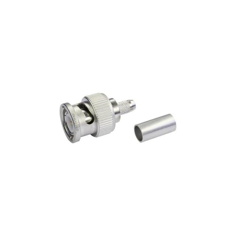 Connettore BNC Spina dritta 50 Ω Telegärtner J01002A1350 1 pz.