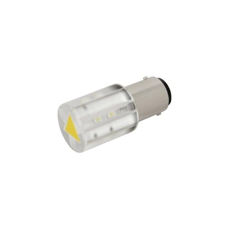 CML Lampadina LED BA15d Giallo 24 V/DC, 24 V/AC 400 mcd 18560352