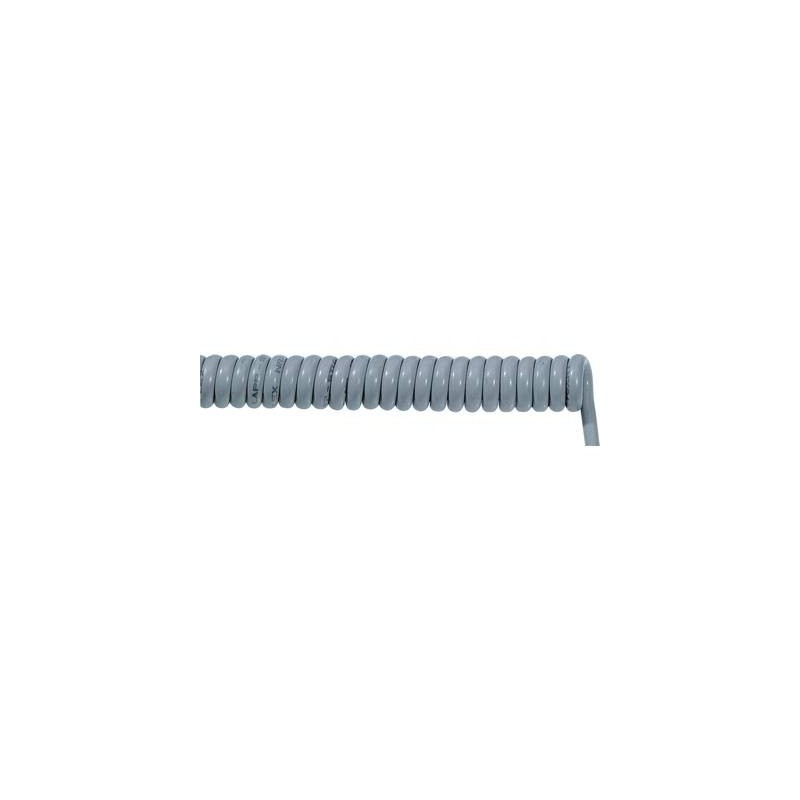 LAPP 70002669 Cavo a spirale ÖLFLEX® SPIRAL 400 P 2000 mm / 6000 mm 7 x 1 mm² Grigio 1 pz.