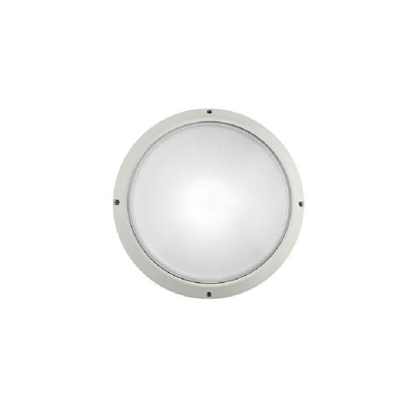 Plafoniera con attacco G23, Bassissimo Consumo 2 x 9W, Super Delta Tondo Safe, colore bianco.
