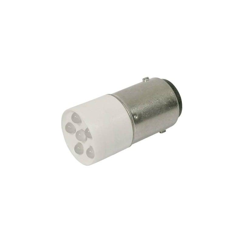 CML Lampadina LED BA15d Bianco freddo 24 V/DC, 24 V/AC 1200 mcd 1864035W3D