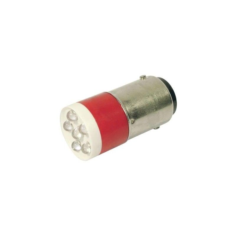 CML Lampadina LED BA15d Rosso 24 V/DC, 24 V/AC 1260 mcd 18640350C