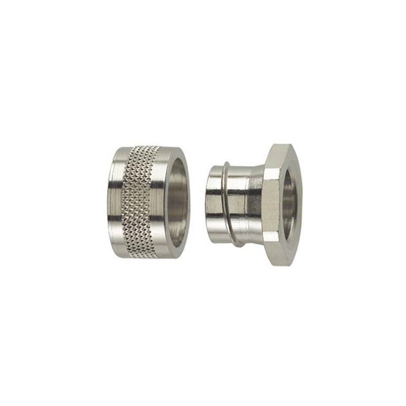 Chiusura finale Metallo 28.10 mm Piatto HellermannTyton 166-30505 SC32-PC 1 pz.
