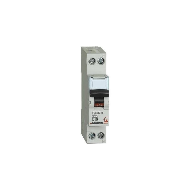 Interruttore Automatico Magnetotermico C16 1P+N 1M 4500A BTDIN-RS