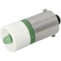 CML Lampadina LED BA9s Verde 12 V/DC, 12 V/AC 2400 mcd 18602251