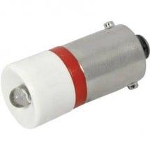 CML Lampadina LED BA9s Rosso 230 V/AC 120 mcd 18606230