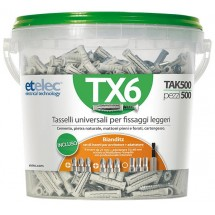 Fusto con 500 tasselli TX6 6x30mm Etelec TAK500