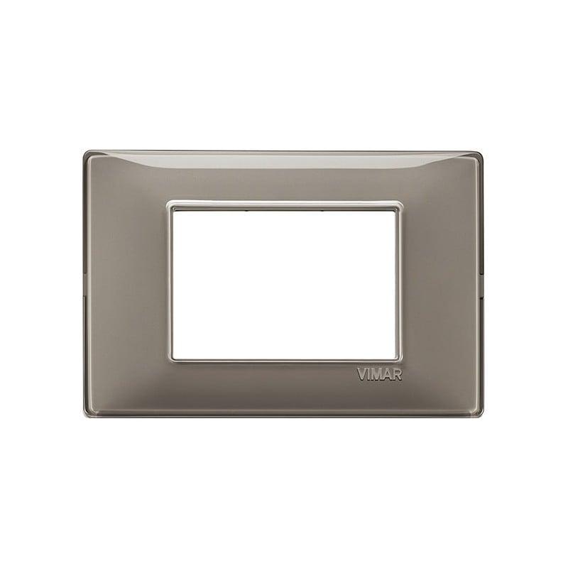 Placca Vimar Plana 14653.40 3 moduli posti colore cenere