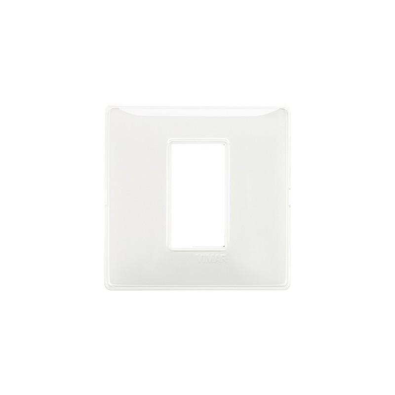 placca 1 modulo centrale, codice 14641.41, bianco neve, miglior prezzo on line