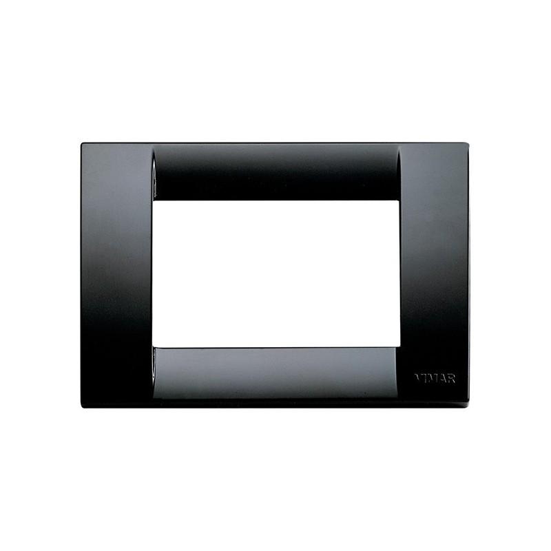 Placca colore Nero, linea Vimar Idea, 3 Moduli Miglior Prezzo Online.