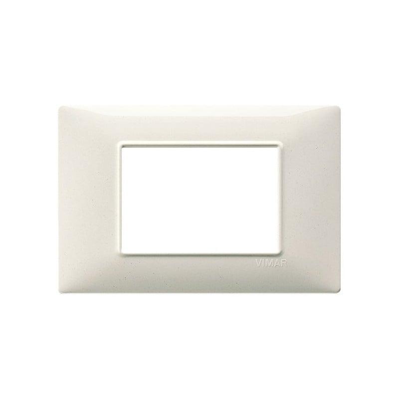 placca bianco granito vimar plana 3 moduli