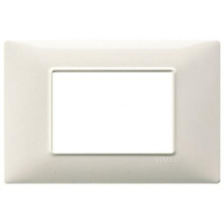 Placca Vimar Plana 1, 2, 3, 4, 7 Posti Moduli Bianco Granito Tecnopolimero