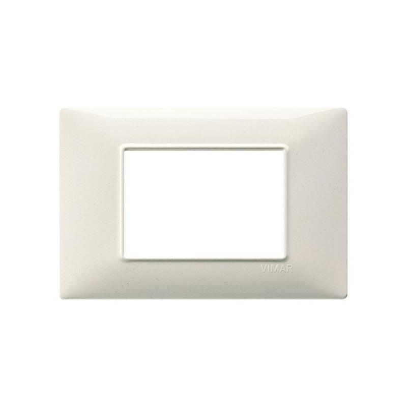 Placca Bianco Granito, colore bianco, 3 moduli, costruita in tecnopolimero verniciato, migliori prezzi online