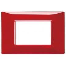 Placca Vimar Plana Reflex Rossa Rubino 1, 2, 3, 4 Moduli Posti Tecnopolimero