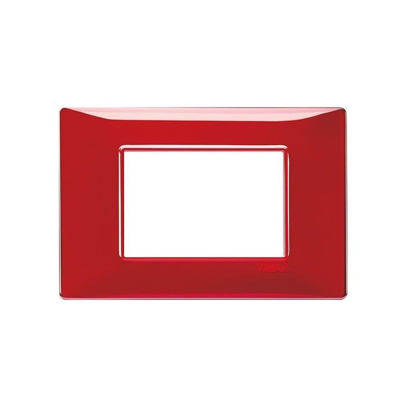 Placche Vimar Plana rosse rubino, 3 moduli posti, costruite in tecnopolimero, miglior prezzo offerta online 14653.51